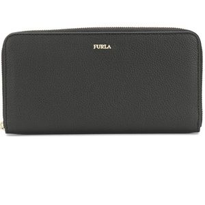 Black babylon full zip Furla wallet